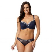 Gorgeous Navy Spotted Mesh Non Padded Bra
