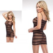 STRIPED-FISHNET-DRESS-ONE-SIZE